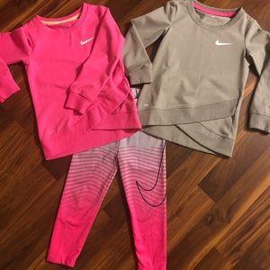 Toddler Nike Dri-Fit Sweatshirt and leggings